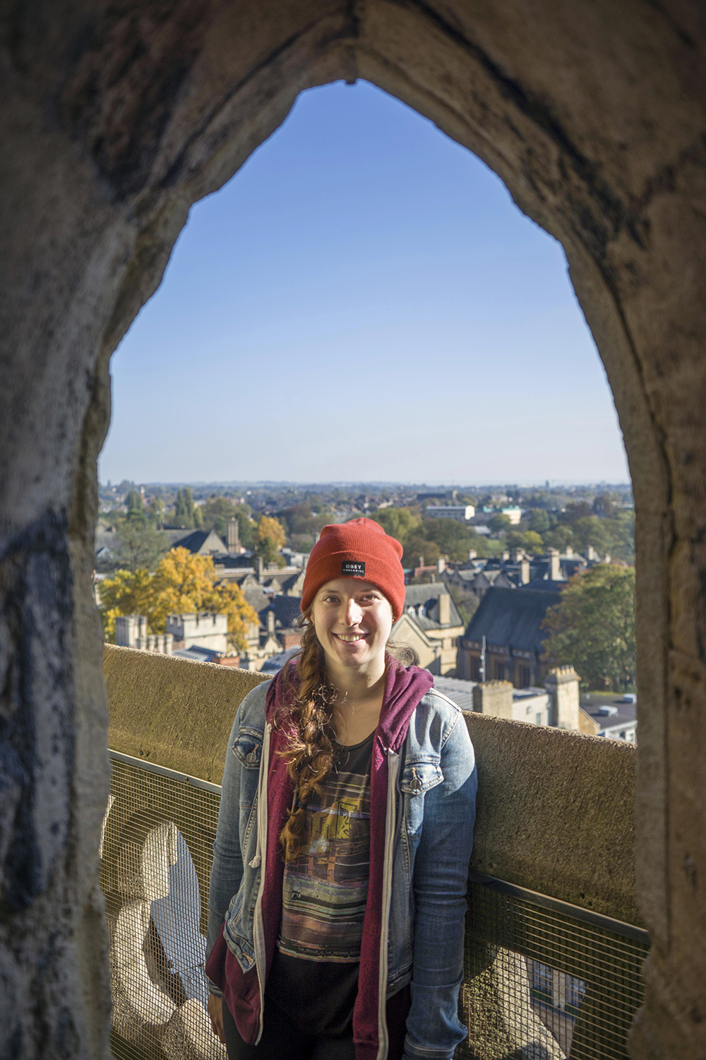 Young woman overlooking Oxford