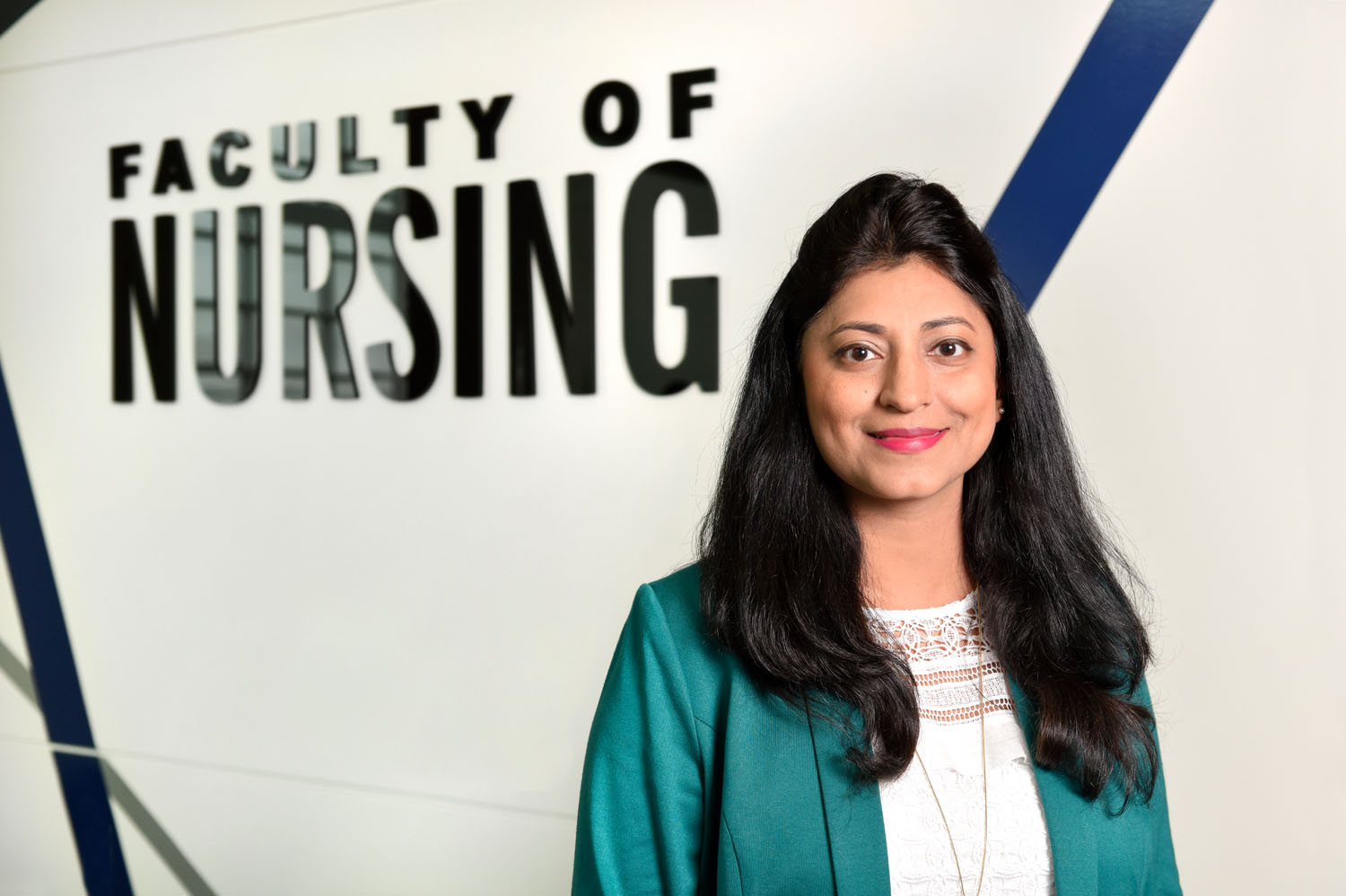 Faculty of Nursing's Dr. Shela Hirani was internationally recognized as an outstanding nurse and midwife leader.   (Photo by Rae Graham)