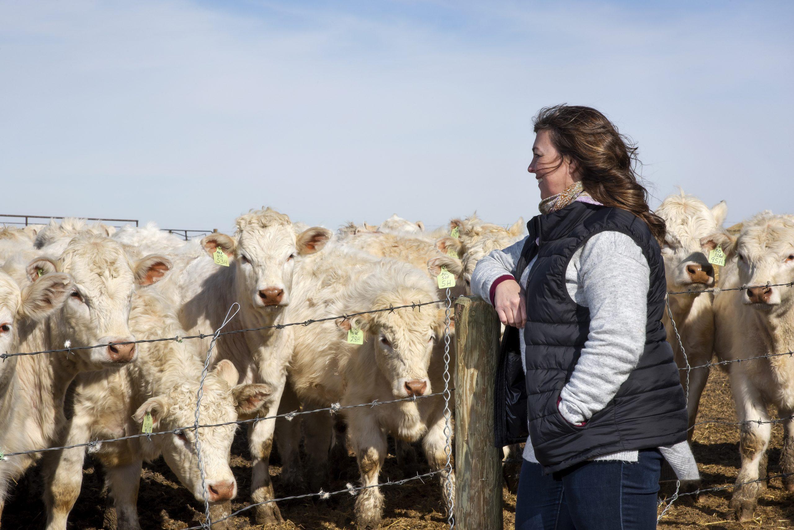 Beck on her farm south of Regina. (Photo by Trevor Hopkin)
