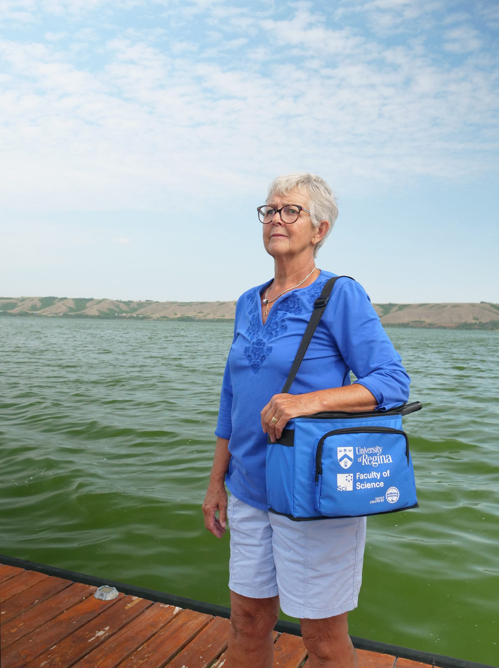 Citizen scientist Joni Darke has joined forces with the University of Regina's community-based, water monitoring program to test the water on Saskatchewan's Echo Lake. (Photo by Arthur Ward)